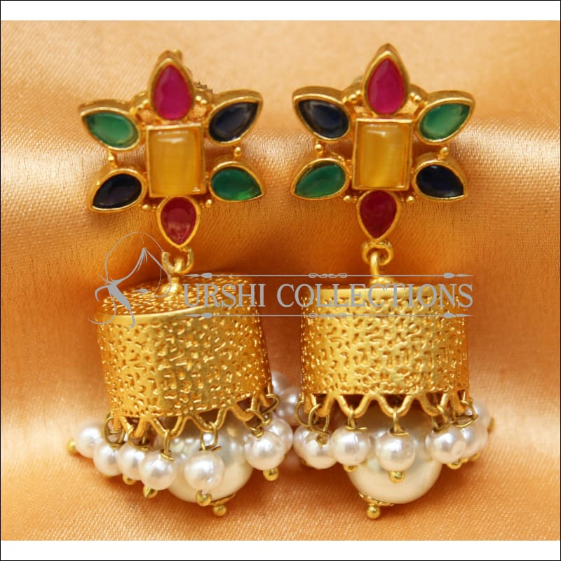 Designer Matte Finish Earrings Set UC-NEW654 - Multi - Earrings