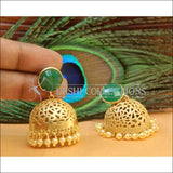 Designer Matte Finish Earrings Set UC-NEW665 - Green - Earrings