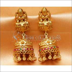 Designer Matte Finish Lakshmi Earrings Set UC-NEW2287 - Earrings