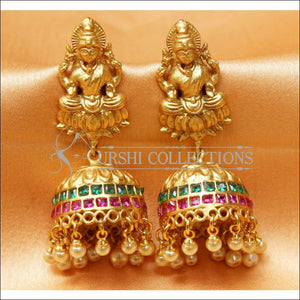 Designer Matte Finish Lakshmi Earrings Set UC-NEW2288 - Multy - Earrings