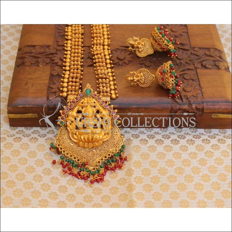 Designer Matte Finish Lakshmi Necklace Set UC-NEW183 - Necklace Set