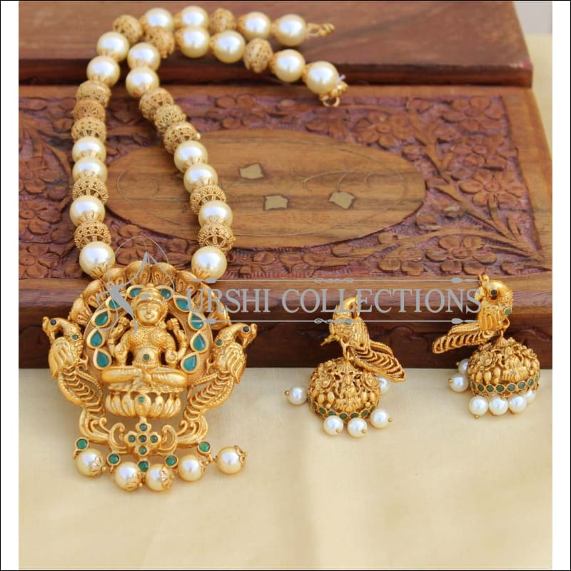 Designer Matte Finish Lakshmi Necklace Set UC-NEW377 - Necklace Set