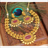 Designer Matte Finish Lakshmi Necklace Set UC-NEW563 - Necklace Set