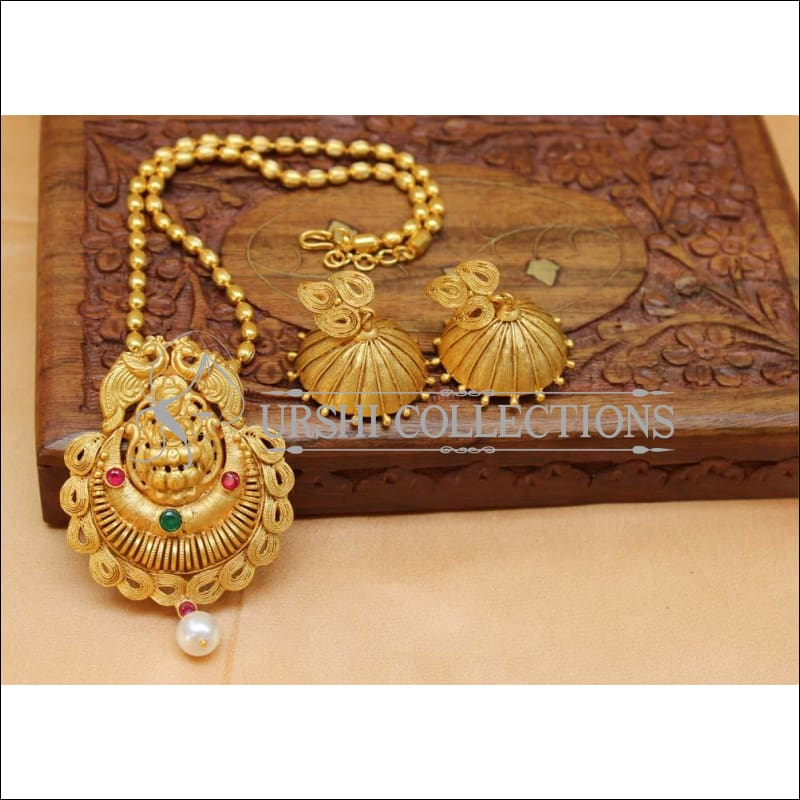 Designer Matte Finish Lakshmi Pendant Set UC-NEW1159 - Multi - Pendant Set