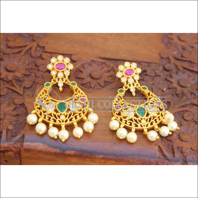 Designer Matte Finish Peacock Earrings Set UC-NEW2120 - Earrings