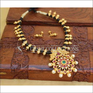 DESIGNER MULTI COLOUR PEACOCK THREAD NECKLACE SET UC-NEW2989 - Necklace Set
