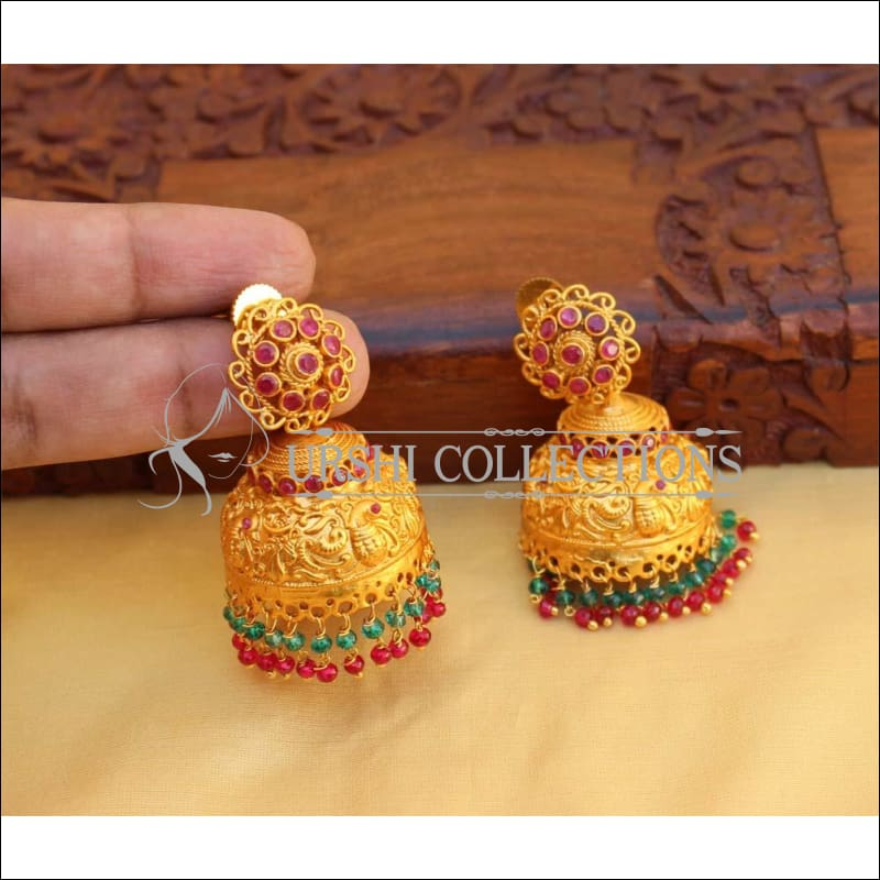 DESIGNER MULTICOLOUR MATTE FINISH EARRINGS UC-NEW2847 - Earrings