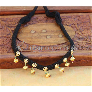 Designer Peacock Black Thread Necklace UC-NEW990 - Necklace Set