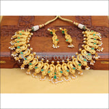 DESIGNER PEACOCK NECKLACE SET UC- NEW3107 - GREEN - Necklace Set