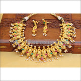 DESIGNER PEACOCK NECKLACE SET UC- NEW3107 - MULTI - Necklace Set