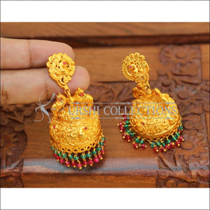 DESIGNER RUBY COLOUR MATTE EARRINGS UC-NEW2841 - MULTI COLOUR - Earrings