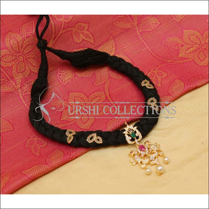 Elegant Black Thread Peacock Necklace UC-NEW991 - Necklace Set