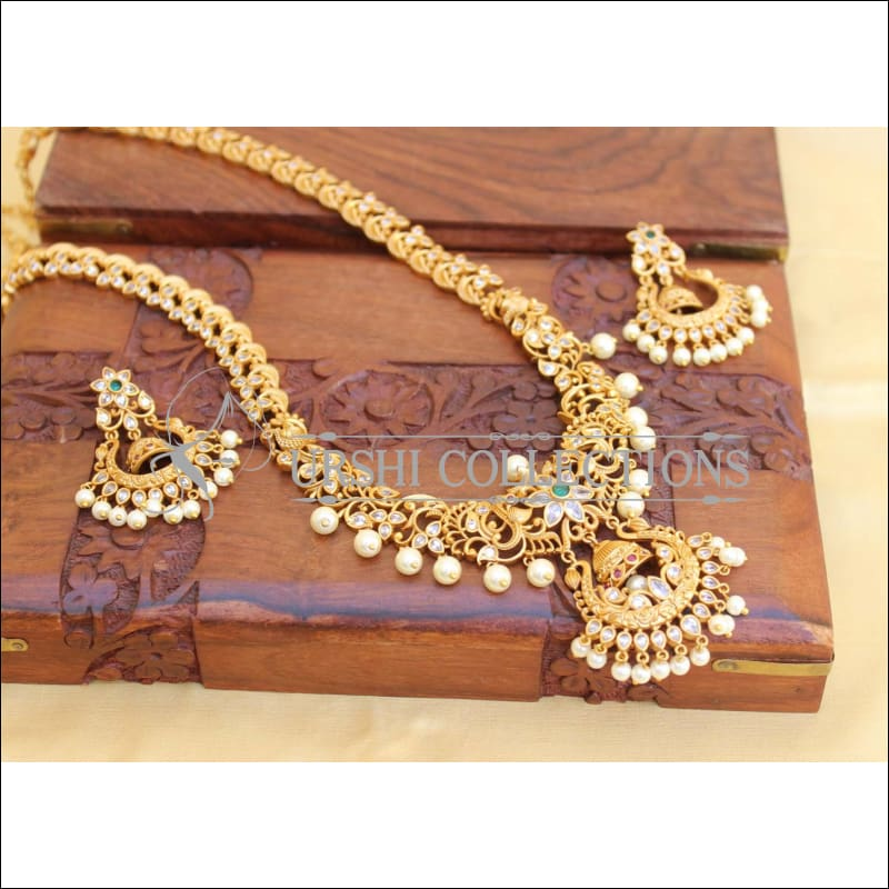 Elegant Chandbali Antic Polish Necklace Set UC-NEW195 - Necklace Set