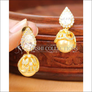 Elegant CZ Earrings Set UC-NEW1433 - White - Earrings