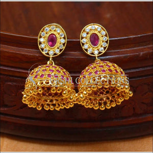 Elegant CZ Earrings Set UC-NEW1439 - Ruby - Earrings