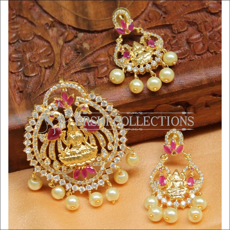Elegant CZ Temple Pendant Set UC-NEW880 - Pendant Set
