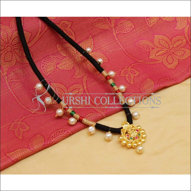 Elegant Designer Black Thread Necklace UC-NEW992 - Necklace Set