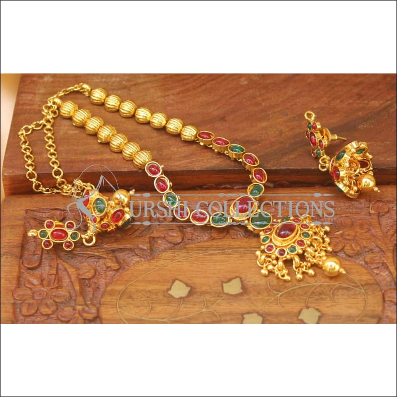 Elegant Designer Gold Plated Necklace Set UC-NEW2065 - Necklace Set