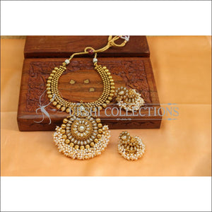 Elegant Designer Gold Plated Necklace Set UC-NEW2069 - Necklace Set