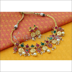 Elegant Designer Lakshmi Necklace Set UC-NEW833 - Necklace Set
