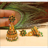Elegant Geru Polish Earrings Set UC-NEW1121 - Green - Earrings