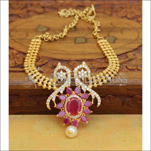 Elegant Gold Plated CZ Bajuband UC-NEW956 - Ruby and White - BAJUBAND