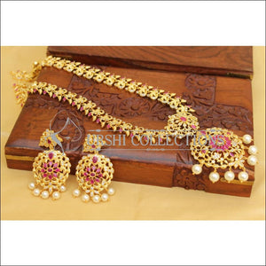 Elegant Gold Plated CZ Necklace Set UC-NEW2731 - Necklace Set