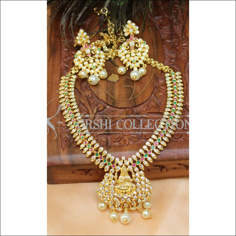 Elegant Gold Plated CZ Necklace Set UC-NEW912 - Necklace Set