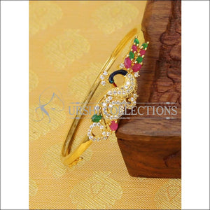 Elegant Gold Plated CZ Peacock Bracelet UC-NEW1804 - Multi - Bracelets