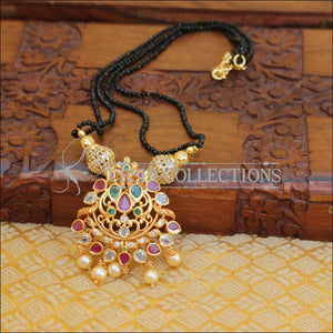 ELEGANT GOLD PLATED CZ PEACOCK NECKLACE UTV667 - Necklace Set