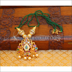 ELEGANT GOLD PLATED CZ PEACOCK NECKLACE UTV668 - Necklace Set