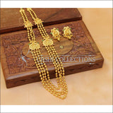 Elegant Gold Plated Lakshmi Four Layer Necklace Set UC-NEW565 - Necklace Set