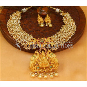 Elegant Gold Plated Lakshmi Necklace Set UC-NEW1310 - Necklace Set