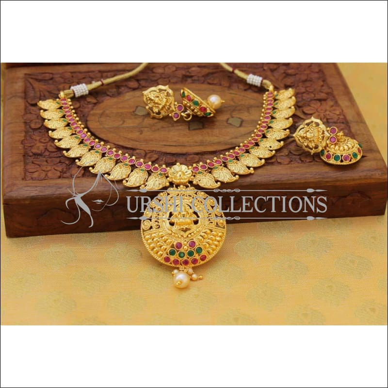 Elegant Gold Plated Lakshmi Necklace Set UC-NEW760 - Multi - Necklace Set