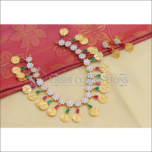 Elegant Gold Plated Lakshmi Necklace Set UC-NEW831 - Necklace Set