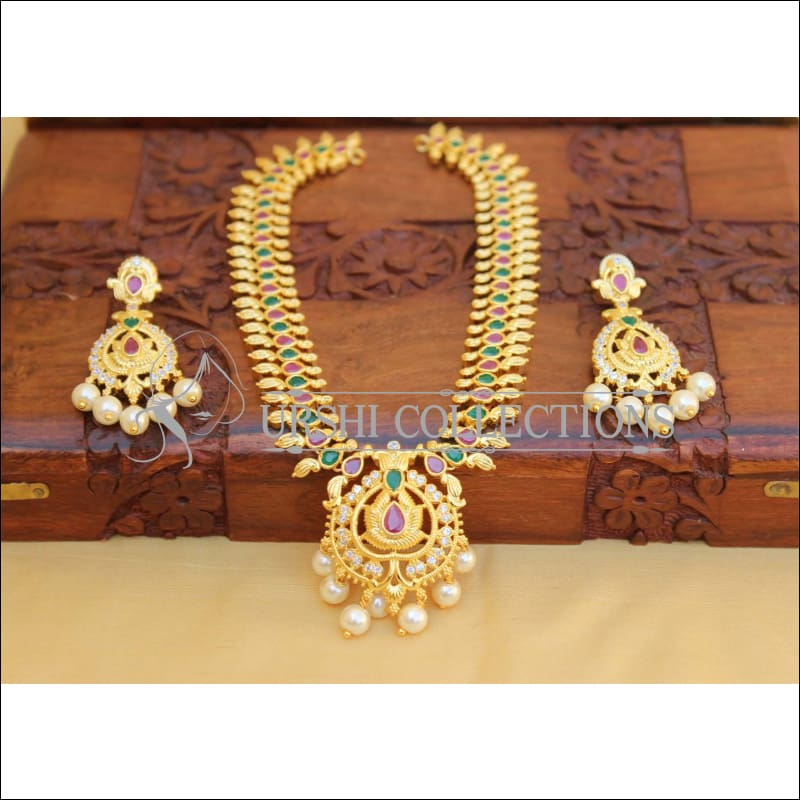Elegant Gold Plated Mango Necklace Set UC-NEW1762 - Multi - Necklace Set