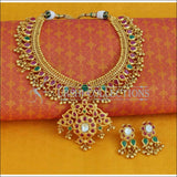 Elegant Gold Plated Mango Necklace Set UC-NEW870 - Necklace Set