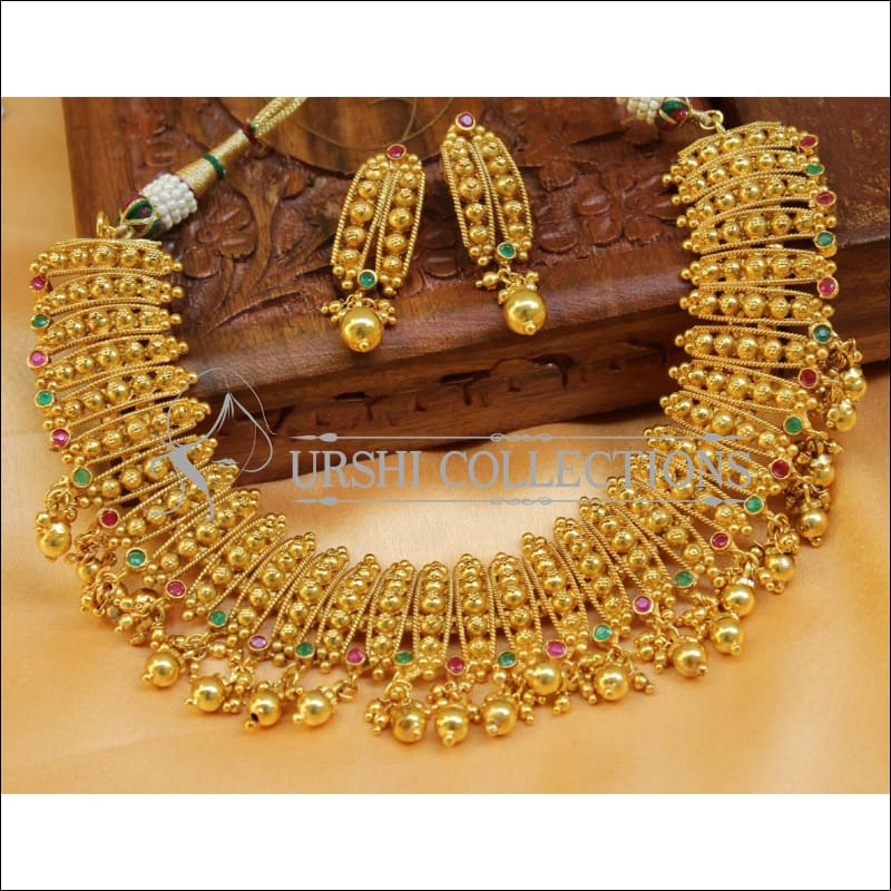 Elegant Gold Plated Necklace Set UC-NEW1479 - Necklace Set