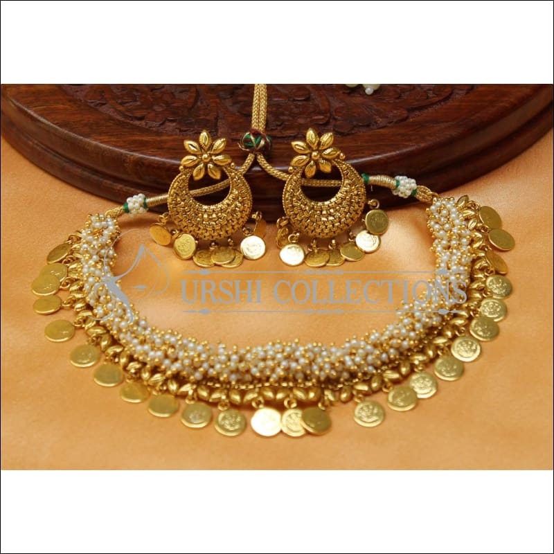 Elegant Gold Plated Necklace Set UC-NEW1497 - Necklace Set