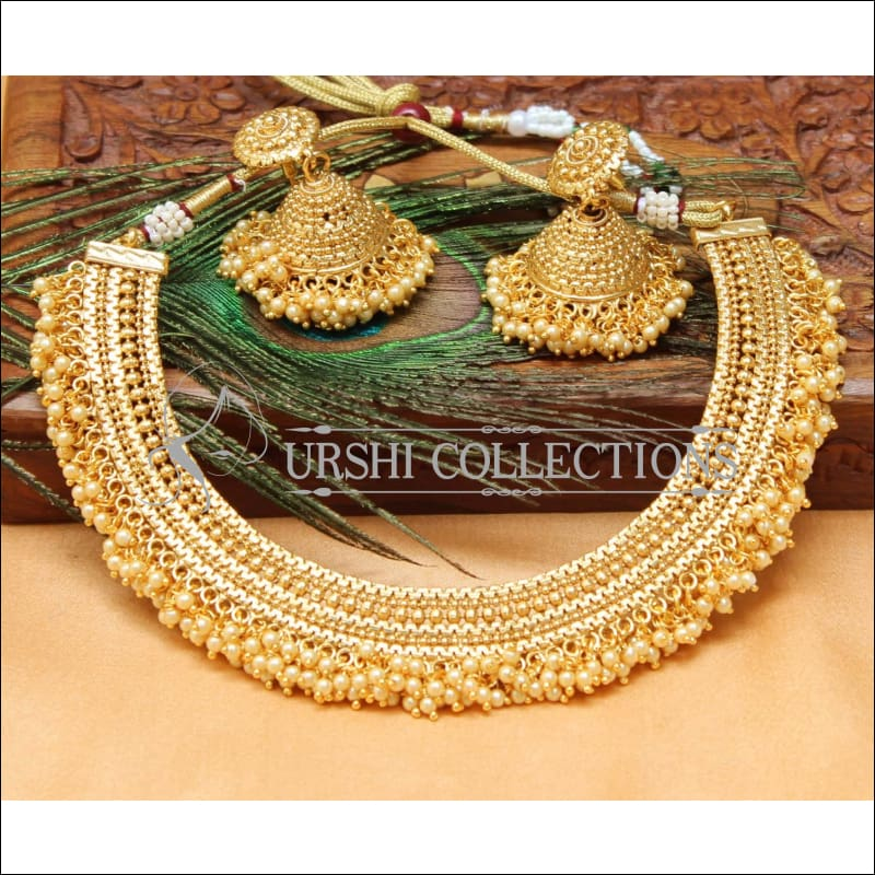 Elegant Gold Plated Necklace Set UC-NEW1603 - Necklace Set