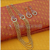 Elegant Gold Plated Necklace Set UC-NEW1629 - Ruby - Necklace Set