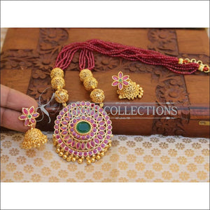Elegant Gold Plated Necklace Set UC-NEW2510 - Necklace Set