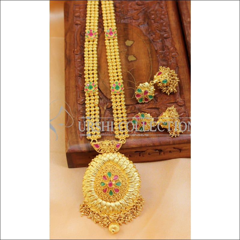 Elegant Gold Plated Necklace Set UC-NEW871 - Necklace Set