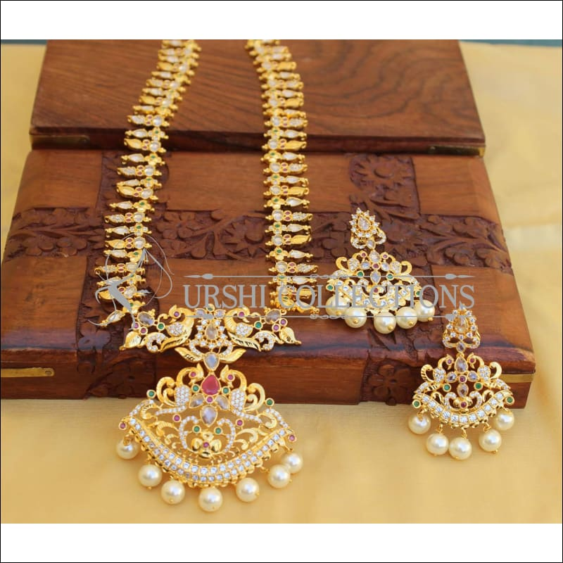 Elegant Gold Plated Necklace Set UC-NEW88 - Necklace Set