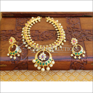 ELEGANT GOLD PLATED NECKLACE SET UTV707 - Necklace Set