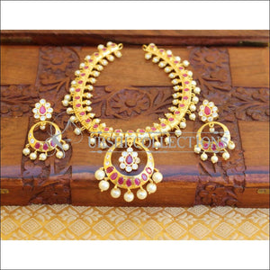 ELEGANT GOLD PLATED NECKLACE SET UTV708 - Necklace Set