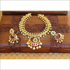 ELEGANT GOLD PLATED NECKLACE SET UTV709 - Necklace Set