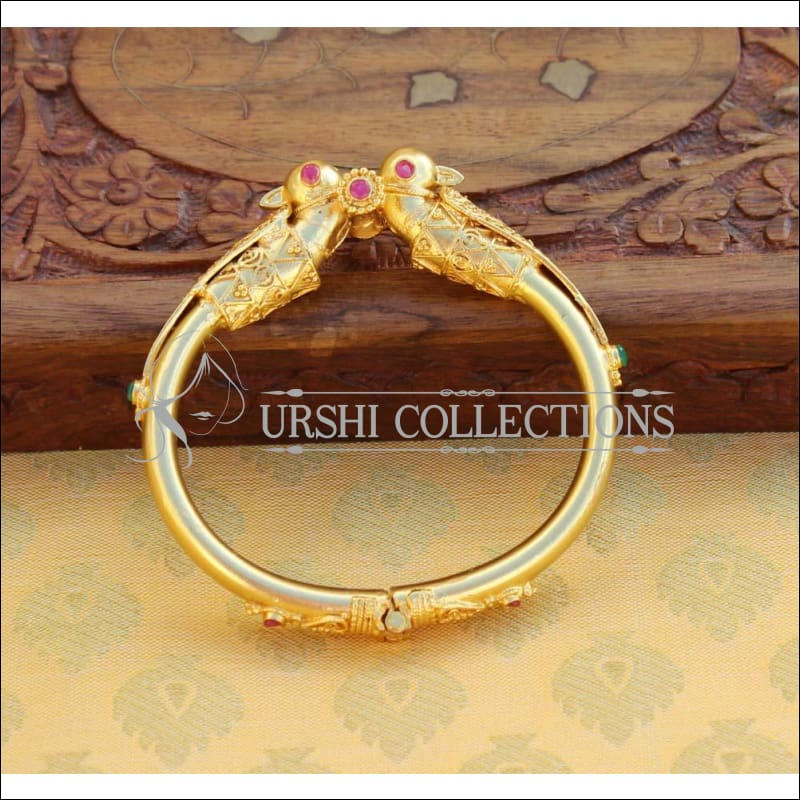 Elegant Gold Plated Openable Kada UC-NEW2073 - Bracelets