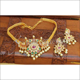 Elegant Gold Plated Peacock Choker Set UC-NEW2376 - Necklace Set