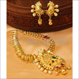 Elegant Gold Plated Peacock Necklace Set UC-NEW1473 - Necklace Set